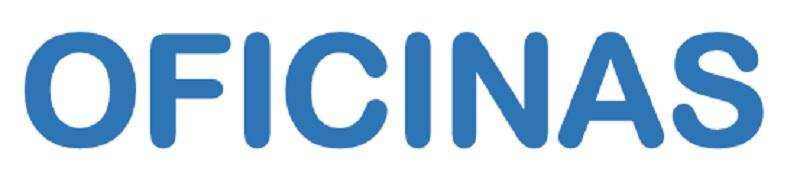 Texto em letras azuis: OFICINAS